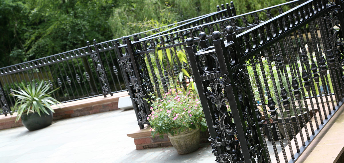 Wrought iron gate fence for garden