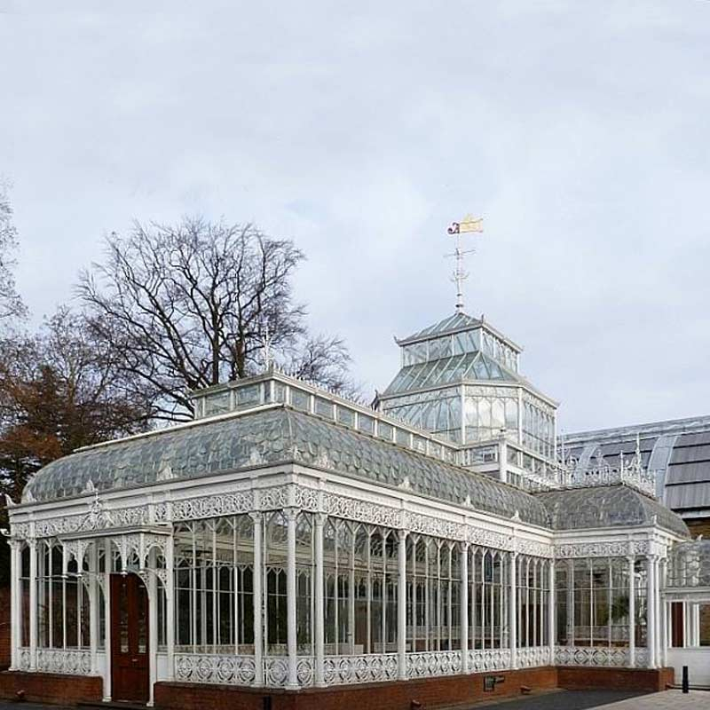 antique georgian style all season greenhouse at front house ...