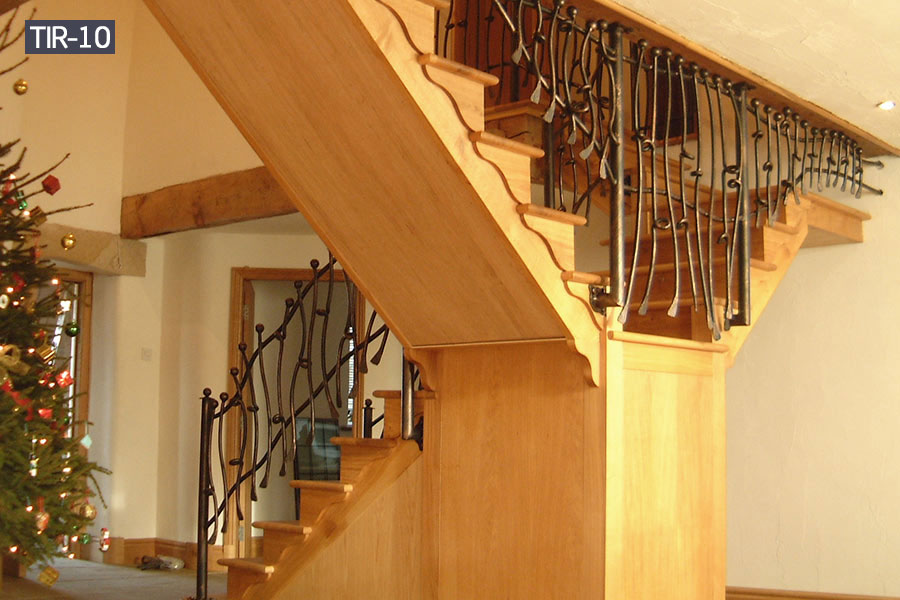 Metal stair balustrade railing for house decoration