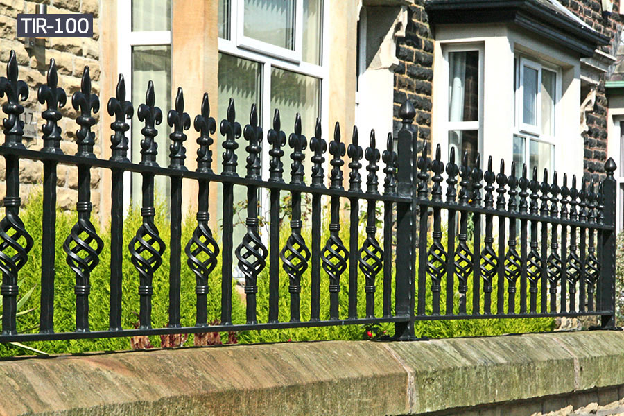 House outside wrought iron fence styles