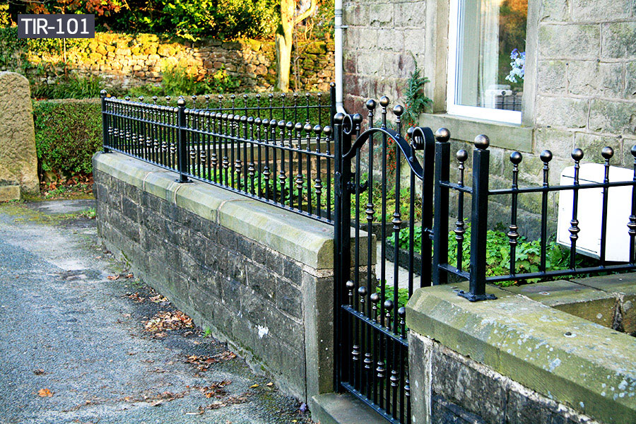 Decorative small wrought iron fence gate cost