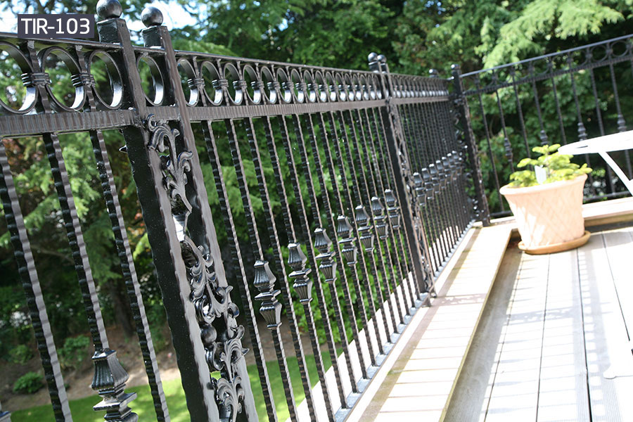 Contemporary fence balcony railing wrought iron for sale