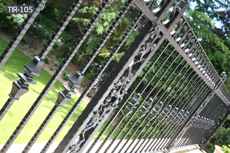 Wrought iron contemporary fence balcony railing for sale
