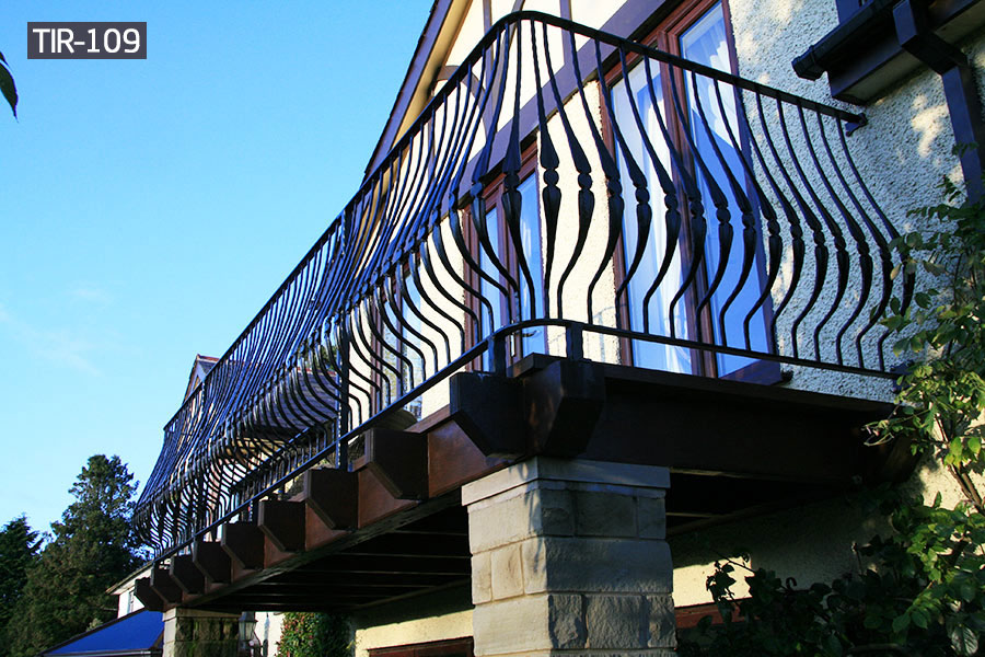 House wrought iron juliet balcony railing outdoor