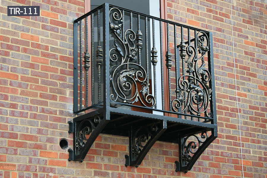 Outdoor decorative wrought iron juliette balcony fence designs