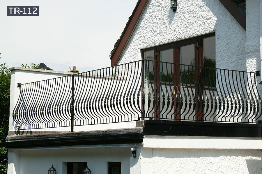 Outdoor wrought iron juliette balcony fence for sale