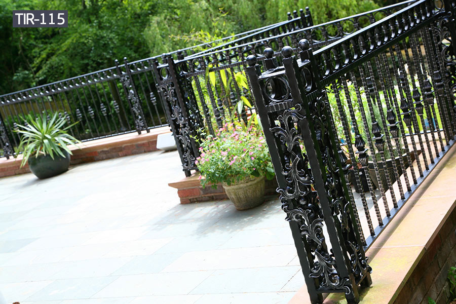 Decorative wrought iron balcony railing for sale