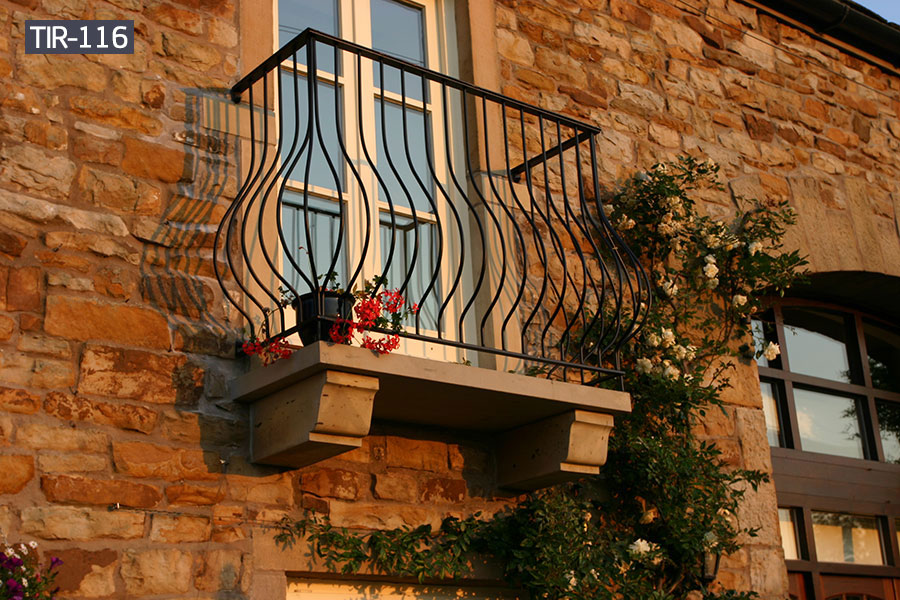 Wrought iron window balcony for home designs