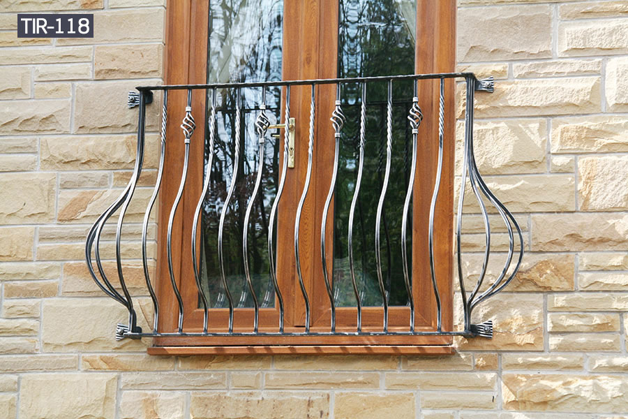 House window fence balcony railing wrought iron