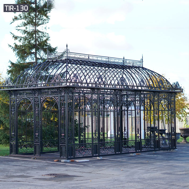 Outdoor wrought iron black gazebos for hotel