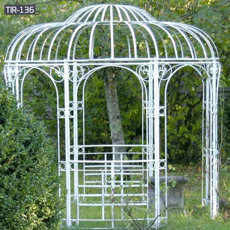 Big rod iron gazebo for wedding decor