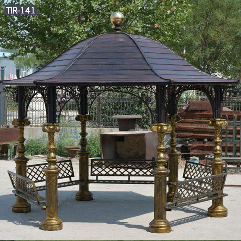 Hardtop metal yard gazebo for sale