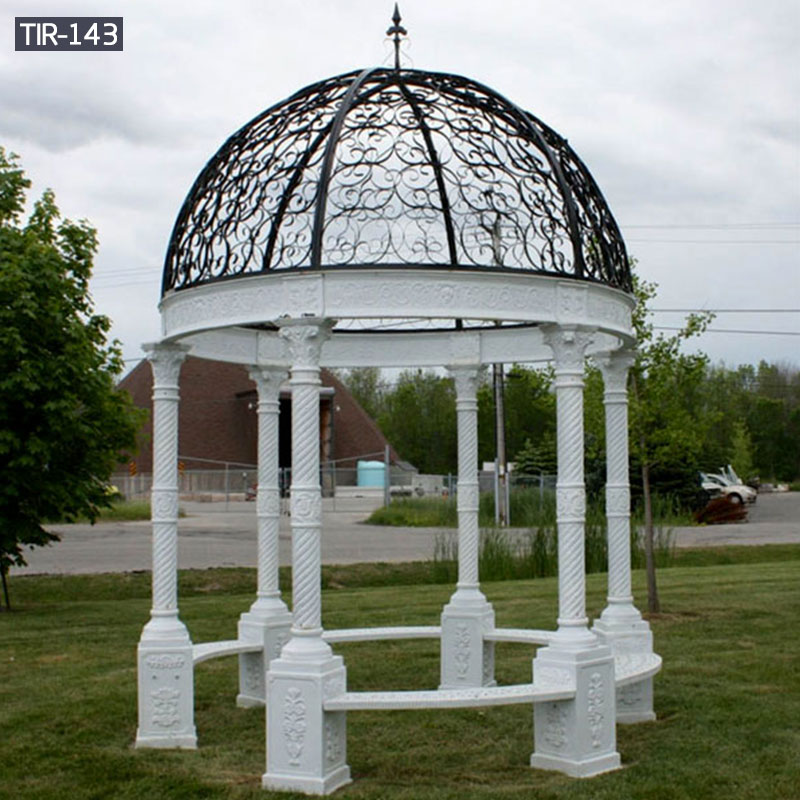 Round metal gazebo outdoor garden furniture