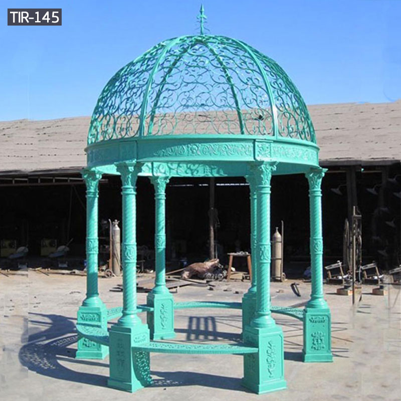 Small wrought iron round gazebos for sale