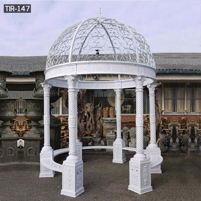 White round metal wedding gazebos for sale