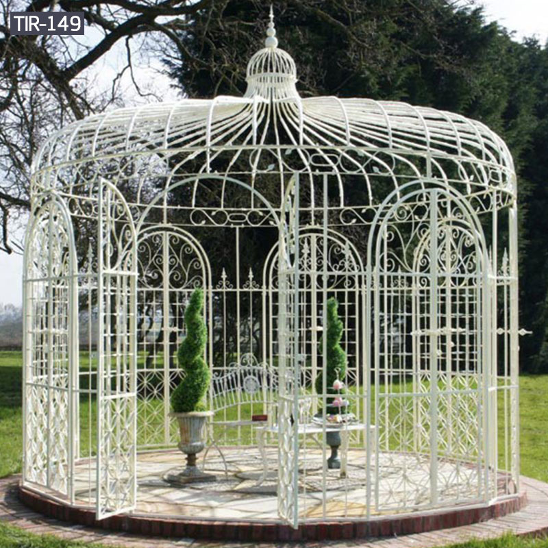 White metal patio gazebos for sale