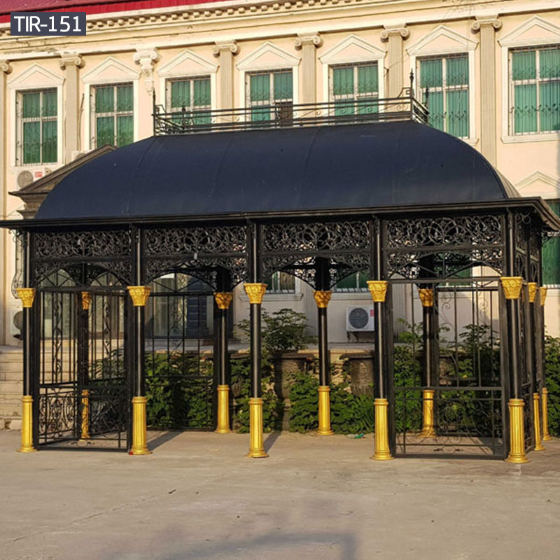 Large steel black gazebo sale