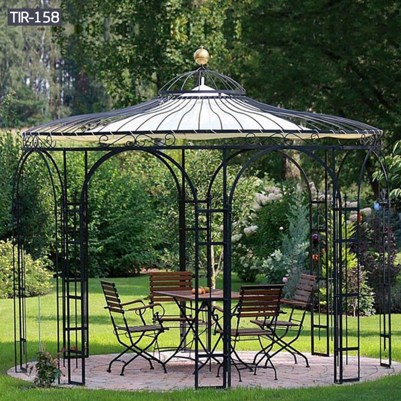 Outdoor wrought iron garden gazebo for sale