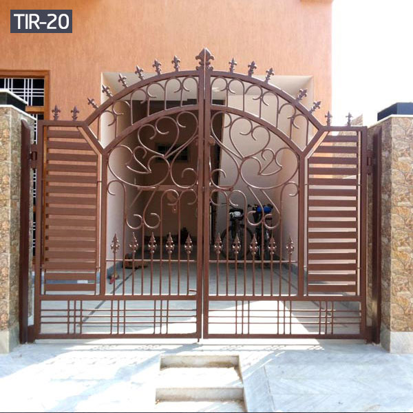 Custom wrought iron gates for home entry