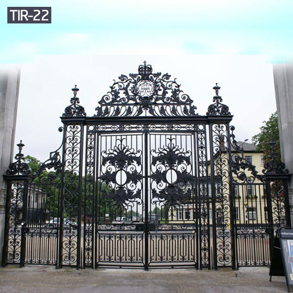 Ornamental iron main gates and side gates for sale