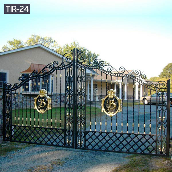 Ornamental driveway gates wrought iron outdoor