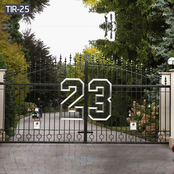 Decorative custom wrought iron gates for outdoors