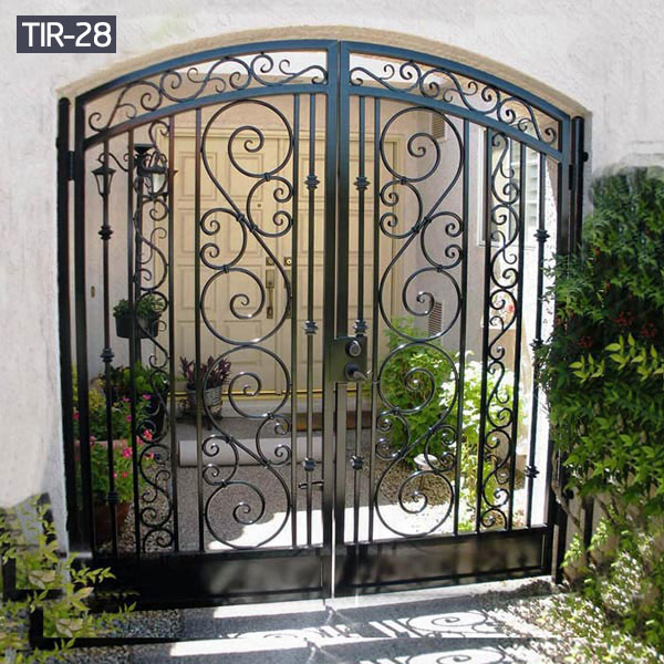 Outdoor small wrought iron garden gates