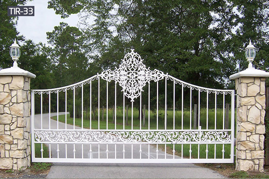 large white metal iron yard gates for sale