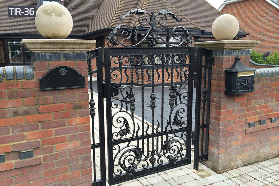 Small wrought iron metal home gates for sale