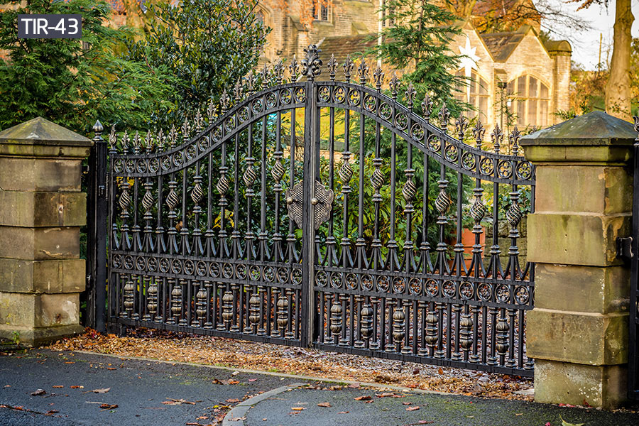Fancy backyard metal gates for house ornamental