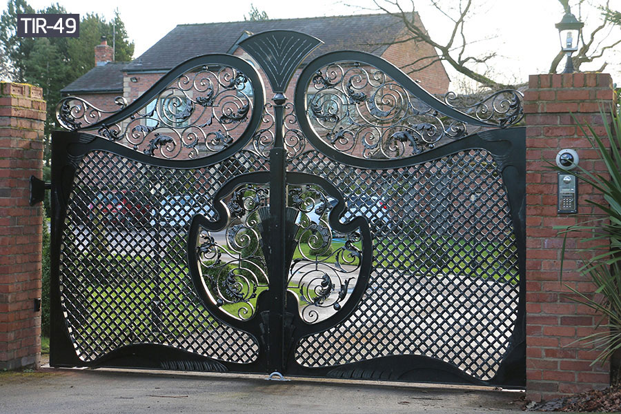 Garden decorative wrought iron gates designs
