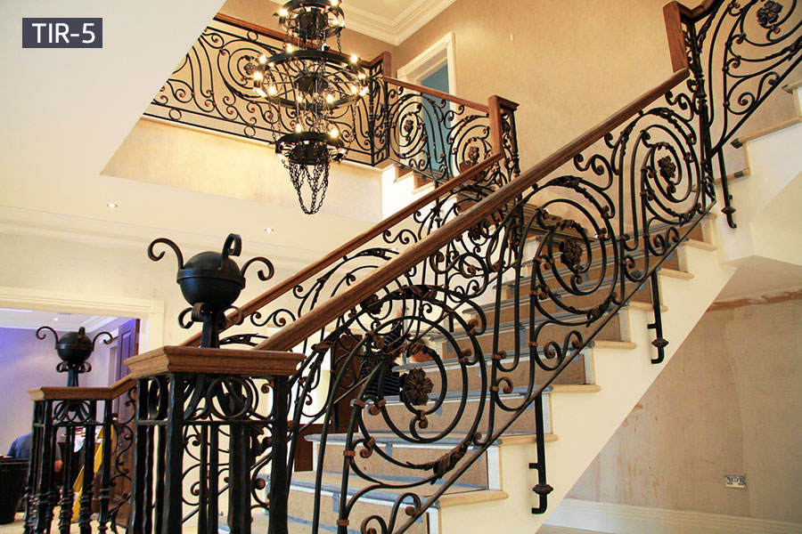 Interior decorative iron stair railings for sale