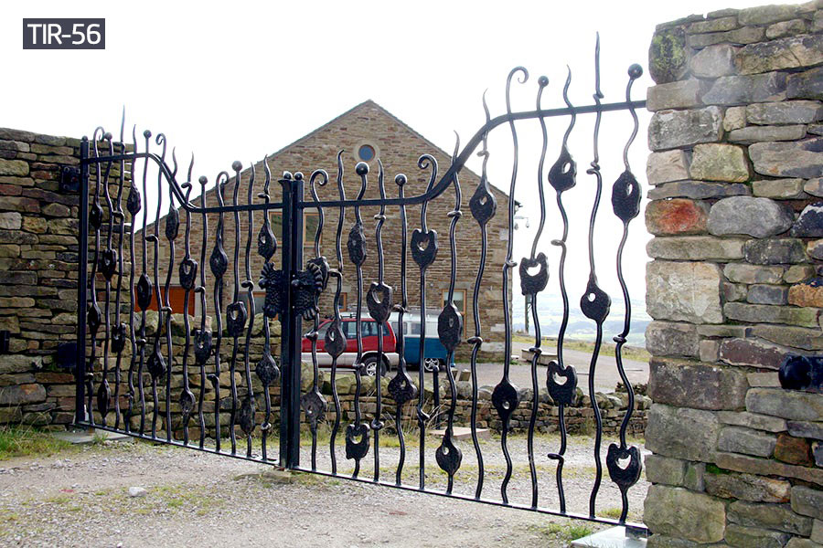 Black ornamental wrought iron gates sale