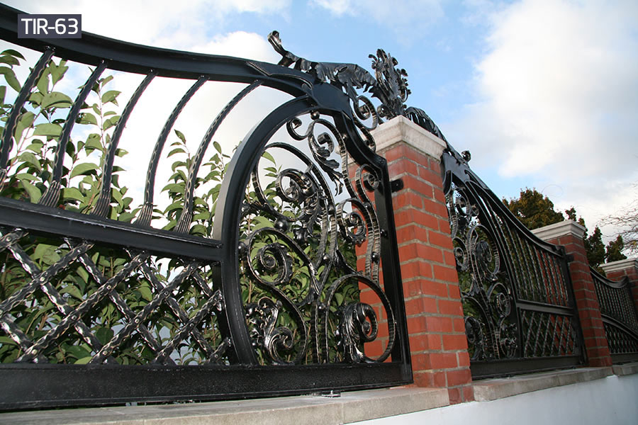 Decorative wrought iron fence panels for sale