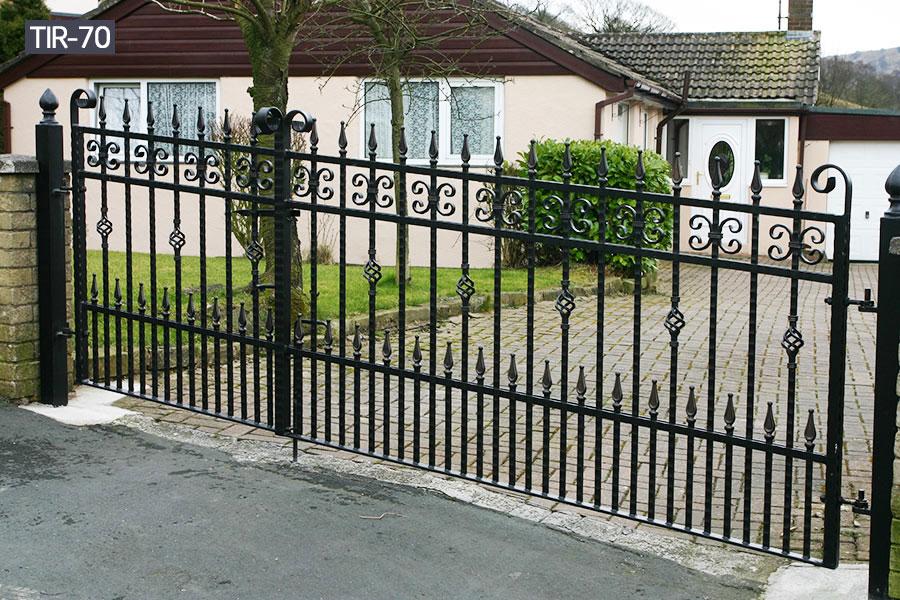 Yard decor wrought iron fence cost