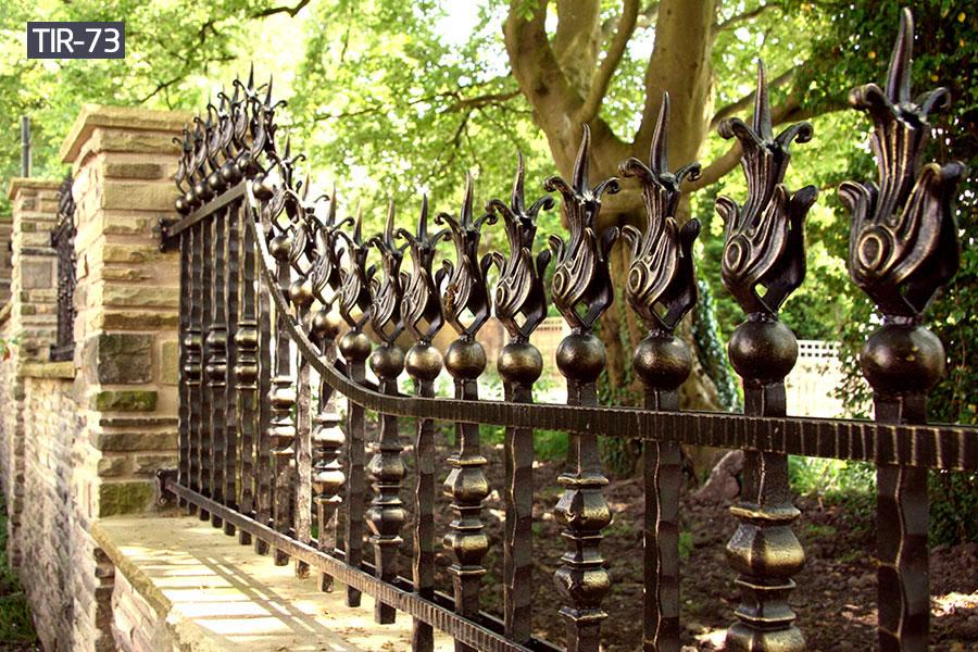Ornamental wrought iron fence railingfor home yard
