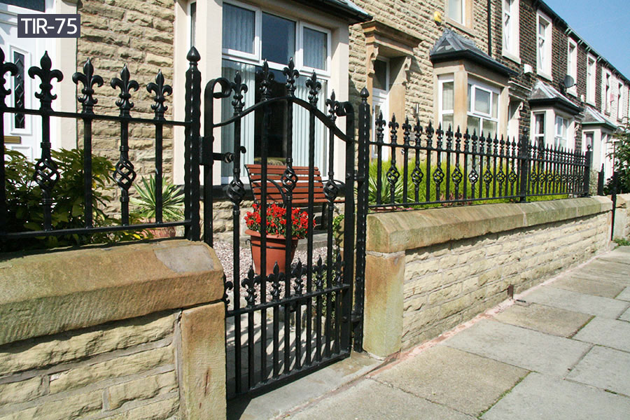 Outdoor wrought iron gate fence railing sections for sale