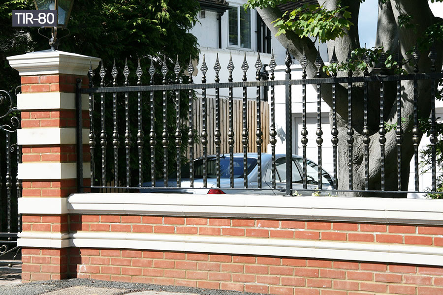 Black cast iron steel fence railing for sale