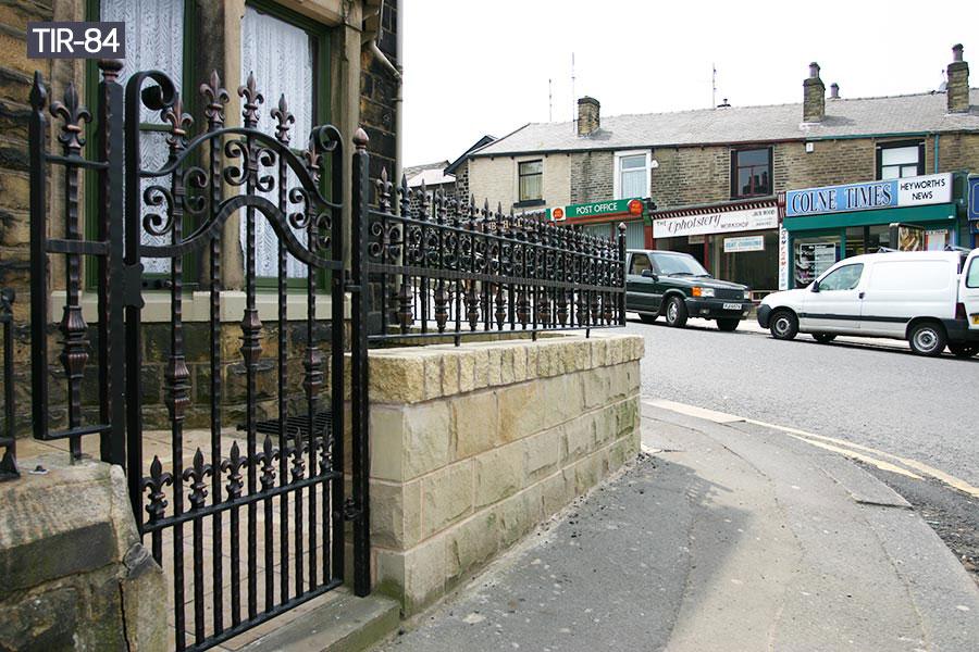 Outside ornamental steel date fence for sale