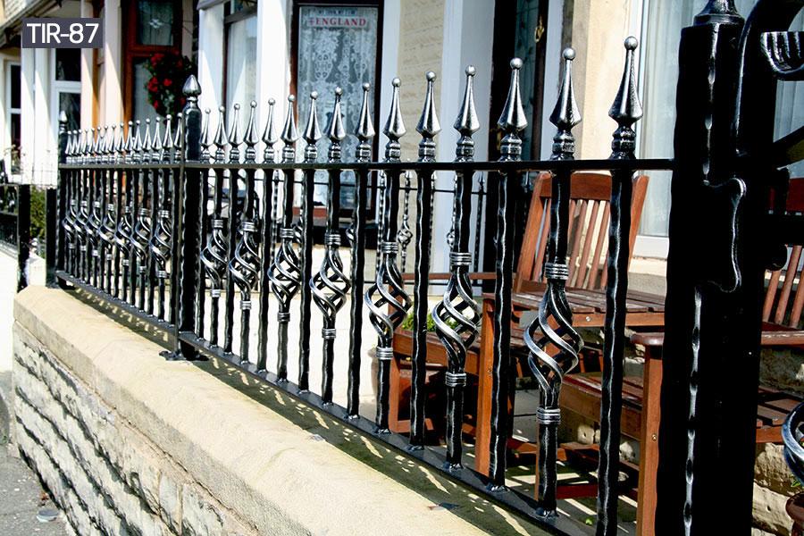 Outside ornamental iron fence railing cost