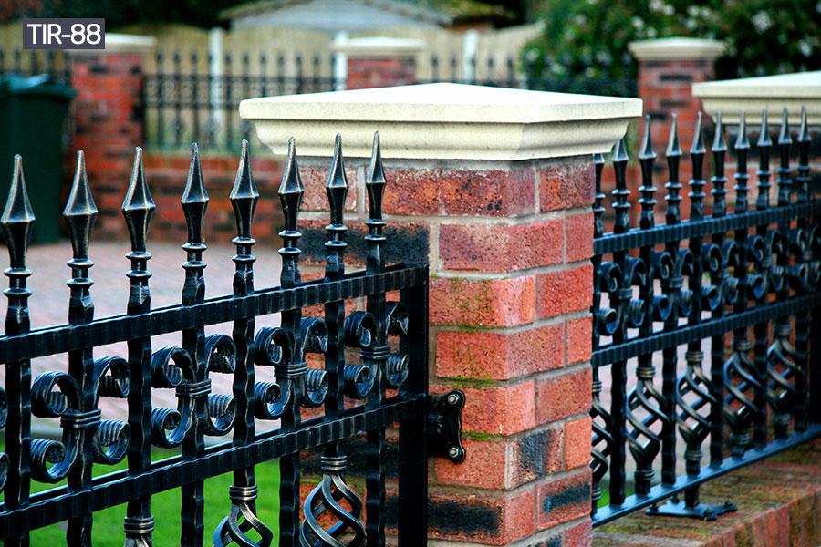 Small ornamental black iron fence cost