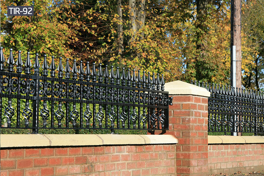 Outside small black iron fence rail for sale