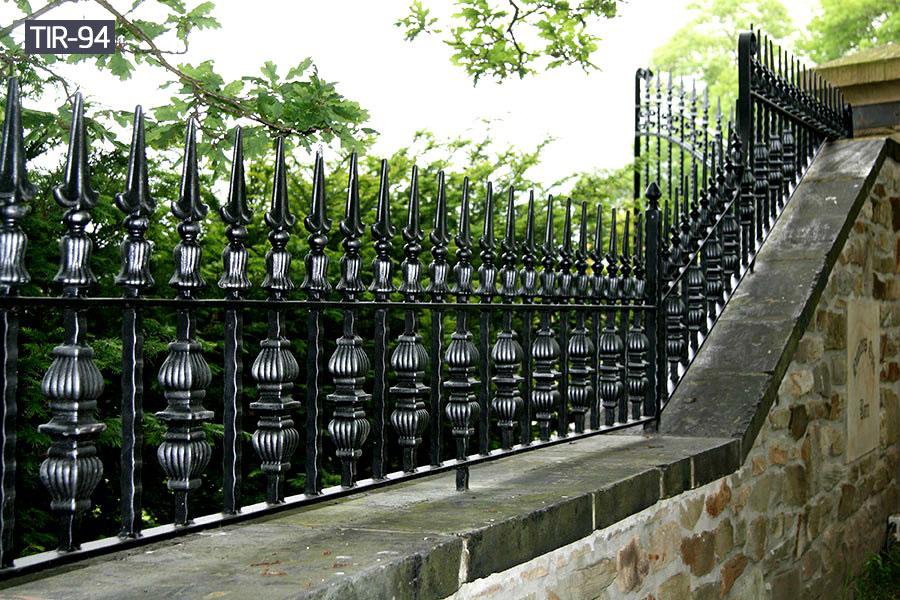 Black ornamental iron fencefor outside decoration