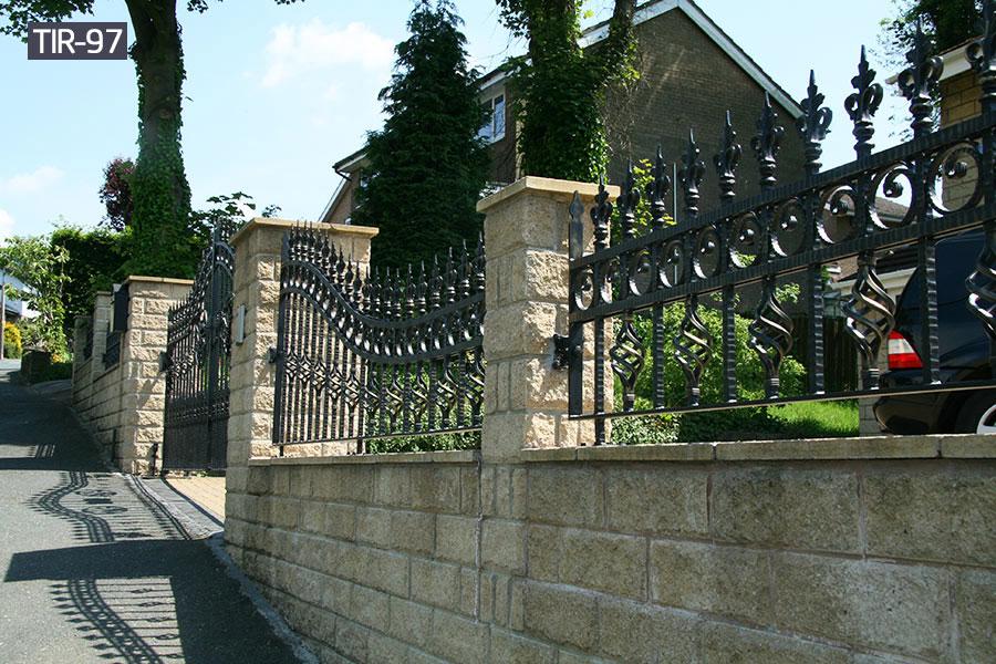 House outside decorative wrought iron fence panelsfor sale